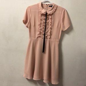 Babydoll pink dress